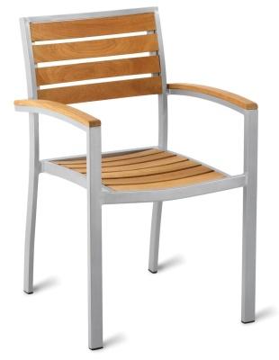 Vola Aluminium And Teak Arm Chair
