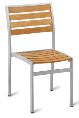 Vola Aluminium And Teak Side Chair