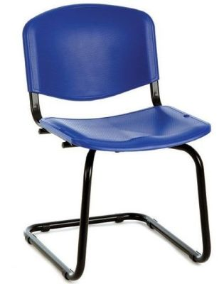 Tommy Cantilever Meeting Chair In Dark Blue Poymer