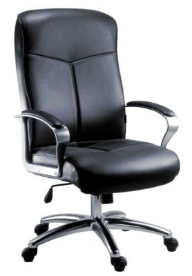 Belvadere Black Leather Executive Swivel Chair