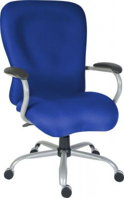 Maximus Extra Large Executive Chair In Blue Moulded Upholstery With Armrests