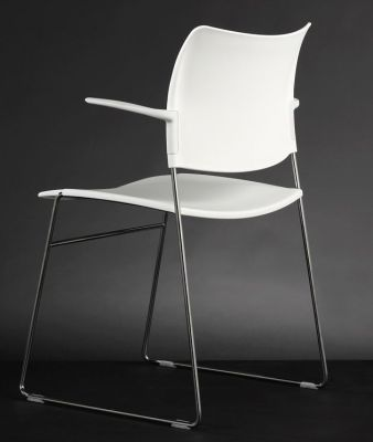 Elios Conference Chair With White Polypropylene Seat And Back