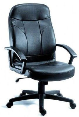 Redro Black Leather Executive Chair