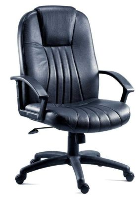Dunster Executive Swivel Chair With Black Leather