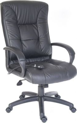 Chester Ergonomic Executive Chair With Armrests And In Black Leather