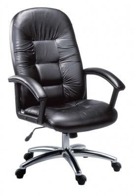 Westminster Black Leather Directors Chair