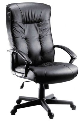 Cheltenham Black Leather Executive Chair