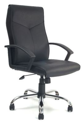Stylo Black Leather Executive Chair