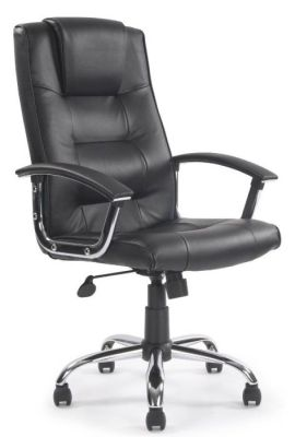 Raffles Contemporary Black Leather Executive Office Chair