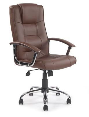Raffles Managers Brown Leather Chair