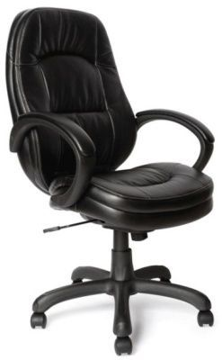 Trojan Executive Chair In Black Faux Leather