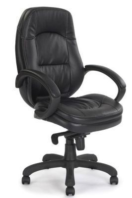 Trojan Executive Chair In Black Soft Feel Leather