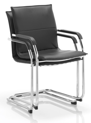 Detnton Leather Conference Chair Stacked