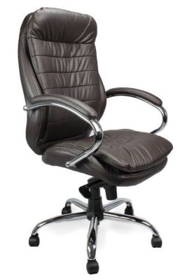 Randall Deluxe Directors Chair In Dark Brown Leather