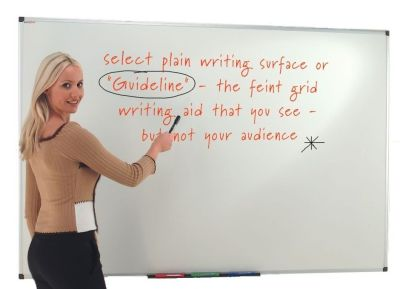 Guideline Whiteboard With Writing Grid And Red Drywipe Pen