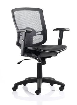Burford Black Mesh Operator Chair With Height Adjustable Arms
