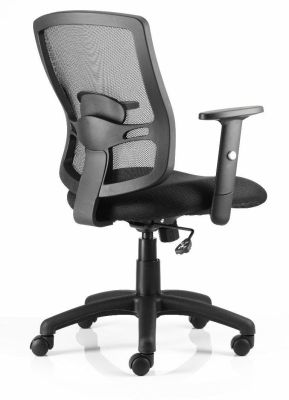 Cotswold Office Chair With Black Seat And Back With Lumbar Support And Armrest