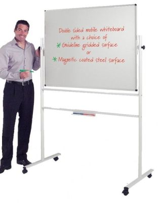 Economy Revolving Whiteboard On Stand With Castors