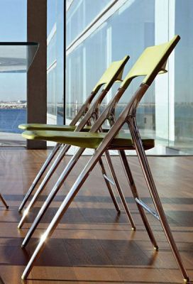Plek Green Designer Folding Meeting Chairs