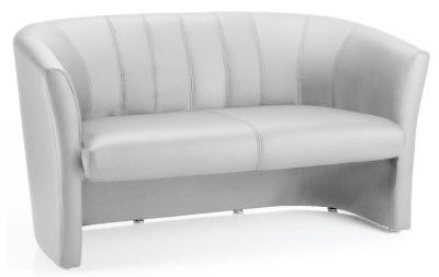 Neon White Leather Sofa