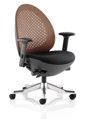 Ovum Designer Chair With Mandarin Mesh And Black Frame