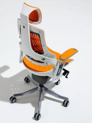 Zodiac Elastomer Orange Task Chair Aerial View