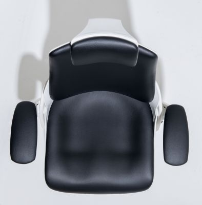 Zodiac Black Leather Task Chair Overhead Shot