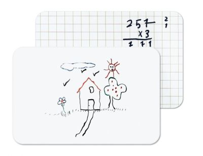 Hand Held Classroom White Boards Plain And With Marked Out Grid