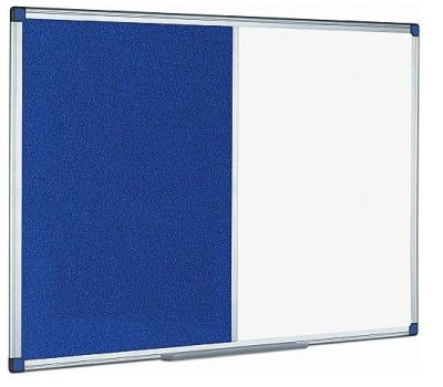Combination Dry Wipe Whiteboard And Blue Felt Noticeboard