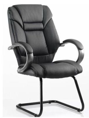 Galway Black Leather Cantilever Conference Chair