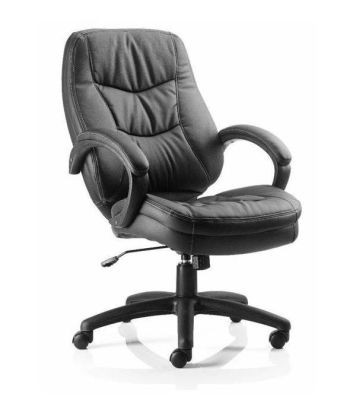Booker Supervisors Black Leather Chair