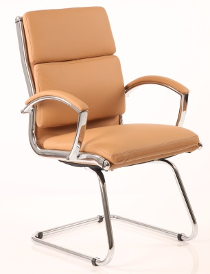 Classique Tan Leather Conference Chair