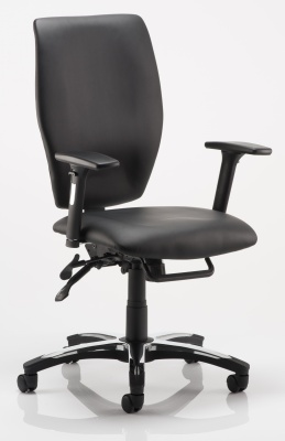 Stravax Black Leather Task Chair