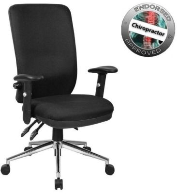 Chiro High Back Chiropractor Approved Black Office Chair