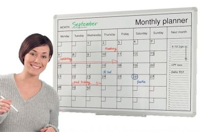Whiteboard Monthly Undated Perpetual Planner