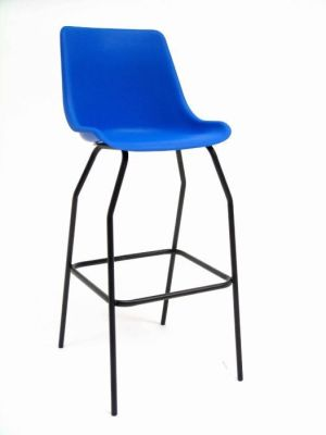GX Blue Lab Stool With Foot Rail
