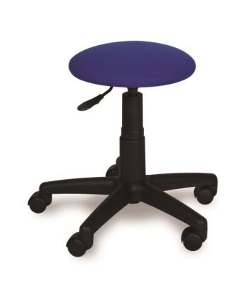 Teachers Round Height Adjustable Blue Swivel Stool