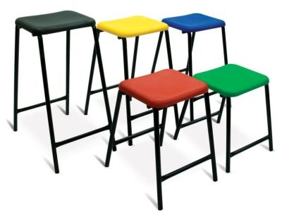 NP Classreoom Stools In Red,green,yellow,blue And Black