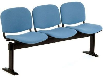 Bradston Blue Beam Seating With Floor Fixing Legs And Fabric Seats