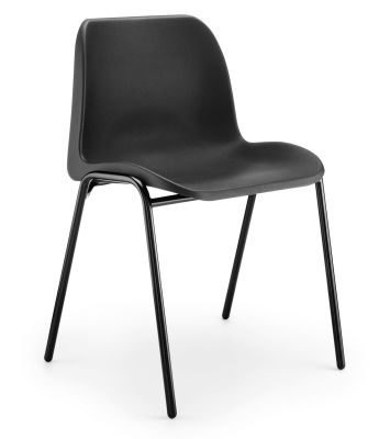 Eco Poly Chair In Black