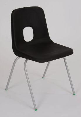 Ethel 4 Leg Poly Chair In Black