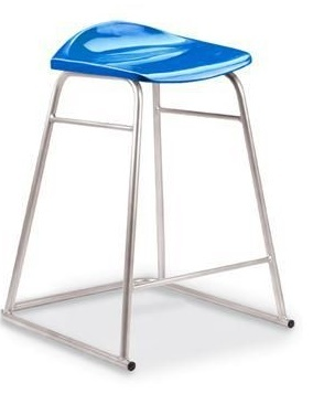 Titan High Stool Blue Seat