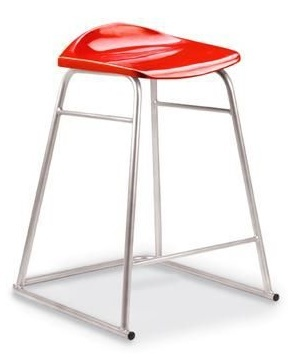 Titan High Stool Red Seat