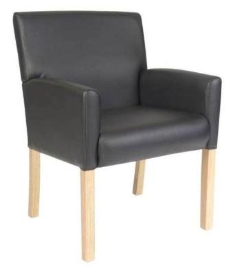 Weston Black Leather Low Seating