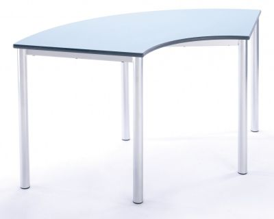 Ms Contemporary Arc Table Blue Top