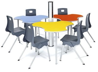 Sagu Modular Tables Grouped Around A Power Pole