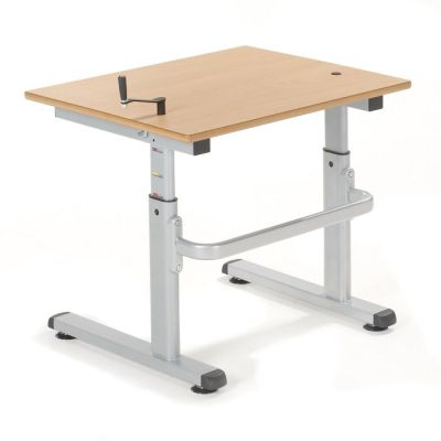 HA200 Height Adjustable Desk With A Beech Top