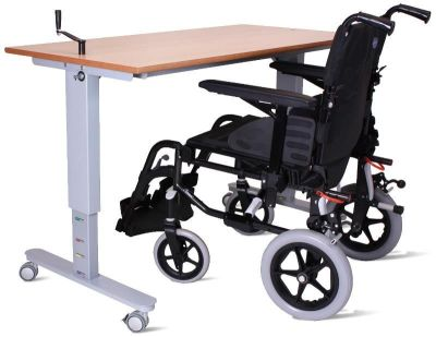 Pw Height Adjustable Desk With Wheelchair