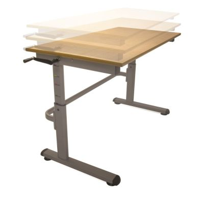 Pw Height Adjustable Desk Angled