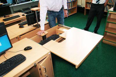 In-desk Install Desk 4